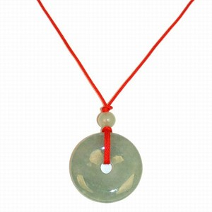 Jade circle necklace on red string flaxen tawny story board jade circle necklace on red string mozeypictures Choice Image